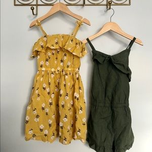 NWT Carters 4T dress and romper bundle